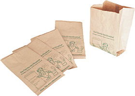 Biofaltenbeutel aus Recyclingpapier