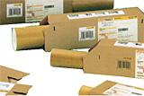 Beförderungshilfen für maschinengängige Versandhülsen gemäß der Postvorschriften