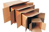 Wellpappfaltkartons Fefco 0201, mit stoßenden Boden- und Deckelklappen, 2-wellig